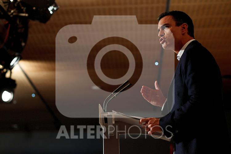 "Madrid,Spain - 16 10 2014- ""politics""- Spanish Socialist Leader Pedro Sanchez  during at the 40th anniversary ceremony of the Suresnes Congress (Foto: Guillermo Martinez /Bouza Press)"