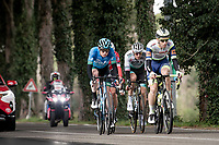 Pieter Vanspeybrouck (BEL/Intermarché - Wanty - Gobert) leading the breakaway group<br /> <br /> Stage 2 from Camaiore to Chiusdino (202km)<br /> <br /> 56th Tirreno-Adriatico 2021 (2.UWT) <br /> <br /> ©kramon