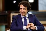 08-04-2017,Den Haag, , portretten  Portret, foto, Jesse Klaver politiek leider Groen Links tijdens een interview, baren, gestes, uitdrukkingen, gezichtsuitdrukkingen<br /> foto Michael Kooren