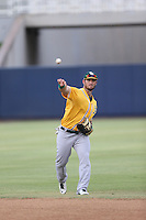Rangel Ravelo of the AZL Athletics throws before a game against the AZL Brewers at Maryvale Baseball Park on June 30, 2015 in Phoenix, Arizona. Brewers defeated Athletics, 4-2. (Larry Goren/Four Seam Images)