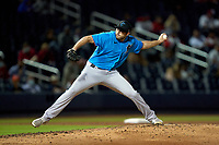 Miami Marlins pitcher Jake Fishman (94) during a Major League Spring Training game against the Washington Nationals on March 20, 2021 at FITTEAM Ballpark of the Palm Beaches in Palm Beach, Florida.  (Mike Janes/Four Seam Images)