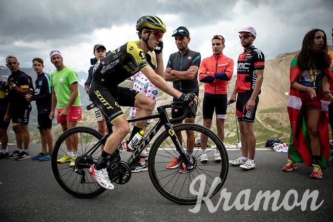 Adam Yates (GBR/Mitchelton Scott) up the Col du Galibier (HC/2622m/23km@5.1%)<br /> <br /> Stage 18: Embrun to Valloire (208km)<br /> 106th Tour de France 2019 (2.UWT)<br /> <br /> ©kramon