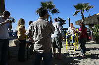 Cast and crew of the online DocShop show recored an episode at the Wavehouse in Mission Beach, San Diego, Friday February 8th 2008.