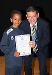 St Johnstone FC Academy Awards Night...06.04.15  Perth Concert Hall<br /> Chairman Steve Brown presents a certificate to Danny McEwan<br /> Picture by Graeme Hart.<br /> Copyright Perthshire Picture Agency<br /> Tel: 01738 623350  Mobile: 07990 594431