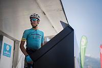 Fabio Arru (ITA/Astana) signing on<br /> <br /> 69th Critérium du Dauphiné 2017<br /> Stage 8: Albertville > Plateau de Solaison (115km)