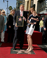 LOS ANGELES - JAN 16:  Donald Trump, Barron Trump, Melanie Trump at the Donald J Trump Star Ceremony on the Hollywood Walk of Fame on January 16, 2007 in Los Angeles, CA