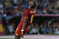 23rd September 2021;  Stadio Olimpicom, Roma, Italy; Serie A League Football, Roma versus Udinese; Tammy Abraham of AS Roma furstrated as he misses a good scoring chance
