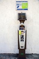 Ft. Lauderdale, Florida.  Solar-powered Parking Meter Capable of Accepting Payment by Coin, Credit Card, or Telephone.