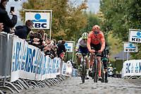 early breakaway group up the Oude Kwaremont<br /> <br /> 104th Ronde van Vlaanderen 2020 (1.UWT)<br /> 1 day race from Antwerpen to Oudenaarde (BEL/243km) <br /> <br /> ©kramon