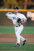 March 13, 2010:  Shortstop Matt Schmidt of the Yale Bulldogs vs. the Akron Zips in a game at Henley Field in Lakeland, FL.  Photo By Mike Janes/Four Seam Images
