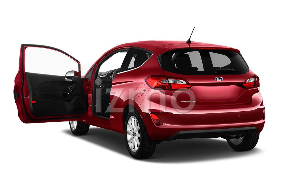 Car images close up view of a 2017 Ford Fiesta Titanium 3 Door Hatchback doors
