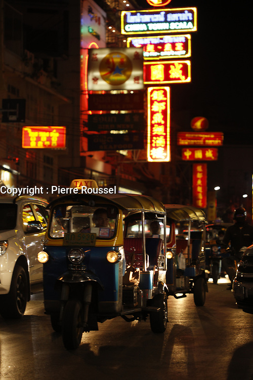 chinatown at  night  in  Bangkok,Thailand