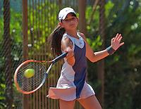 Netherlands, Dordrecht, August 03, 2015, Tennis,  National Junior Championships, NJK, TV Dash 35, Keira Schriel<br /> Photo: Tennisimages/Henk Koster