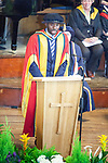 © Joel Goodman - 07973 332324 . 13/07/2012 . Bolton , UK . Bolton University awards footballer FABRICE MUAMBA with an honorary degree in recognition of the medical professionals who saved his life . Photo credit : Joel Goodman