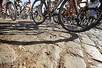 up the Kemmelberg cobbles<br /> <br /> 3 Days of West-Flanders<br /> stage 2: Nieuwpoort - Ichtegem 186km