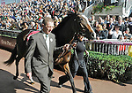 10 October 03: Misty For Me (no. 4), ridden by John Murtagh and trained by Aidan O'Brien, wins the group 1 Prix Marcel Boussac - Criterium des Pouliches for two year old fillies at Longchamp Racecourse in Paris, France.  (Bob Mayberger/Eclipse Sportswire)