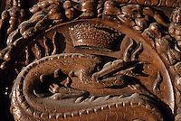 Europe/France/Centre/37/Indre-et-Loire/Amboise: Le château - Détail salamandre de François Ier