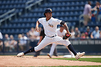 Scranton/Wilkes-Barre RailRiders starting pitcher Deivi García (6) in action against the Rochester Red Wings at PNC Field on July 25, 2021 in Moosic, Pennsylvania. (Brian Westerholt/Four Seam Images)