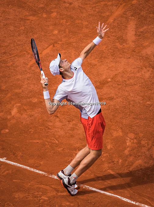 Paris, France, 27 May, 2019, Tennis, French Open, Roland Garros, Hubert Hurkacz (POL)<br /> Photo: Henk Koster/tennisimages.com