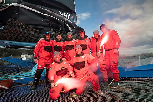PowerPlay Crew for Fastnet Course Record: Peter Cunningham, Ned Collier Wakefield, Tom Dawson, John Hamilton, Paul Larsen, Jack Trigger, Miles Seddon, Martin Watts