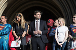 """© Joel Goodman - 07973 332324 . 05/05/2017 . Manchester , UK . ANDY BURNHAM at the """" Superheroes """" children's charity event at Manchester Town Hall following his victory in the Metro Mayor election in Greater Manchester . Photo credit : Joel Goodman"""