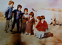 Iraq 1987.<br /> In the village of Temar in Qara Dagh, the children of Sheikh Jaffar with their uncles, young brothers of their mother: Damawand, 1st from left and Hewa, 3rd, died during Anfal campaign.<br /> Irak 1987.<br /> Dans le village de Temar au Qara Dagh, les enfants de sheikh Jaffar avec leurs oncles, jeunes freres de leur mere: Damawand, 1er a gauche et Hewa, 3eme, mourront pendant la campagne de l'Anfal