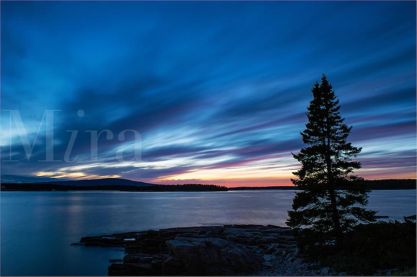 Coastal sunset, Schoodic Peninsula, Acadia National Park, Maine, USA