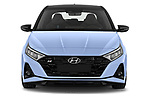 Car photography straight front view of a 2021 Hyundai i20 N-Performance 5 Door Hatchback Front View