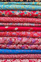 Nepal, Kathmandu.Bolts of Cloth, Fabric, for Women's Clothing.