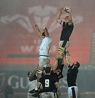 Wales Seb Davies claims the line out <br /> <br /> Photographer Ian Cook/CameraSport<br /> <br /> 2020 Autumn Nations Cup - Wales v Georgia - Saturday 21st November 2020 - Parc y Scarlets - Llanelli - Wales<br /> <br /> World Copyright © 2020 CameraSport. All rights reserved. 43 Linden Ave. Countesthorpe. Leicester. England. LE8 5PG - Tel: +44 (0) 116 277 4147 - admin@camerasport.com - www.camerasport.com
