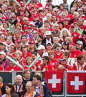 14-09-12, Netherlands, Amsterdam, Tennis, Daviscup Netherlands-Swiss,  Suiss fans