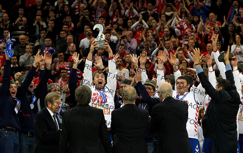 Momir Ilic of Serbia after EHF EURO 2012 handball championship final game between Serbia and Denmark in Belgrade, Serbia, Sunday, January 29, 2011.  (photo: Pedja Milosavljevic / thepedja@gmail.com / +381641260959)