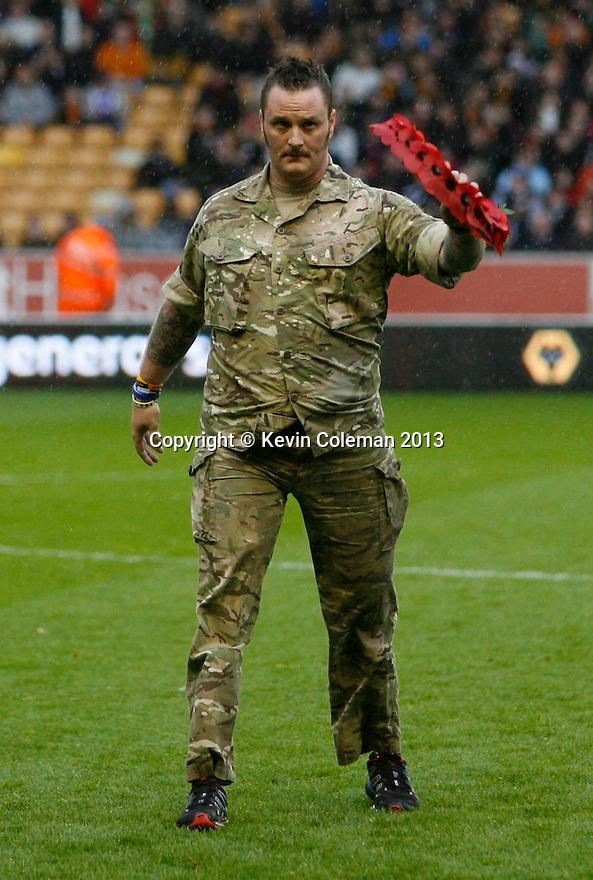 Sapper Clive Smith acknowledges the crowd<br />  - Wolverhampton Wanderers v Stevenage - Sky Bet League One - Molineux, Wolverhampton - 2nd November 2013. <br /> © Kevin Coleman 2013
