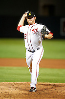 Salt River Rafters pitcher Paul Demny #32, of the Washington Nationals organization, during an Arizona Fall League game against the Mesa Solar Sox at Salt River Fields at Talking Stick on October 9, 2012 in Scottsdale, Arizona.  Salt River defeated Mesa 6-5.  (Mike Janes/Four Seam Images)