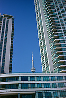 Condominiums on Yonge street and the CN Tower<br />