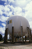 Manaus, Brazil. Petrobras gas storage container.
