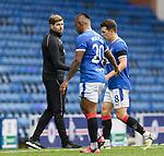 25.07.2020 Rangers v Coventry City:  Steven Gerrard substitutes Ryan Jack and Alfredo Morelos