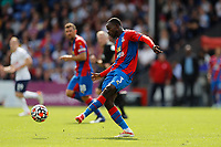 11th September 2021; Selhurst Park, Crystal Palace, London, England;  Premier League football, Crystal Palace versus Tottenham Hotspur: Tyrick Mitchell of Crystal Palace passing the ball into midfield