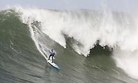 Grant Washburn. Mavericks Surf Contest in Half Moon Bay, California on February 13th, 2010.