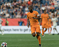 FOXBOROUGH, MA - JUNE 29: DeMarcus Beasley #7 controls the ball during a game between Houston Dynamo and New England Revolution at Gillette Stadium on June 29, 2019 in Foxborough, Massachusetts.