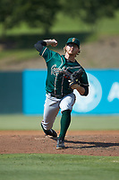 Greensboro Grasshoppers relief pitcher Conner Loeprich (44) in action against the Piedmont Boll Weevils at Kannapolis Intimidators Stadium on June 16, 2019 in Kannapolis, North Carolina. The Grasshoppers defeated the Boll Weevils 5-2. (Brian Westerholt/Four Seam Images)