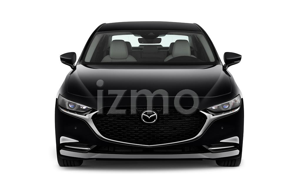 Car photography straight front view of a 2020 Mazda Mazda3 Skycruise 4 Door Sedan Front View
