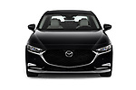 Car photography straight front view of a 2020 Mazda Mazda3 Skycruise 4 Door Sedan Front View