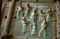 Verona:  Basilica San Zeno--Bronze doors.  Photo '83.
