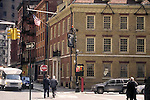 Fraunces Tavern is a national historic landmark, museum, and restaurant in New York City, located at 54 Pearl Street at the corner of Broad Street. The building played a prominent role in pre-Revolution, American Revolution and post-Revolution history, serving as a headquarters for George Washington, a venue for peace negotiations with the British, and housing federal offices in the Early Republic.