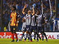 GUAYAQUIL- ECUADOR - 26-08-2014: Los jugadores de Emelec de Ecuador celebran el gol anotado a Las Aguilas Doradas de Colombia durante partido de vuelta de la primera fase, de la Copa Total Suramericana Emelec de Ecuador, Aguilas Doradas de Colombia en el George Capwell, de la ciudad de Guayaquil. / The players of Emelec of Ecuador, celebrate a goal scored to Aguilas Doradas of Colombia during a match for the second leg of the first phase, between Emelec of Ecuador and Aguilas Doradas of Colombia of the Copa Total Suramericana in the George Capwell stadium, in Guayaquil city. Photo: API / Photogamma / VizzorImage.