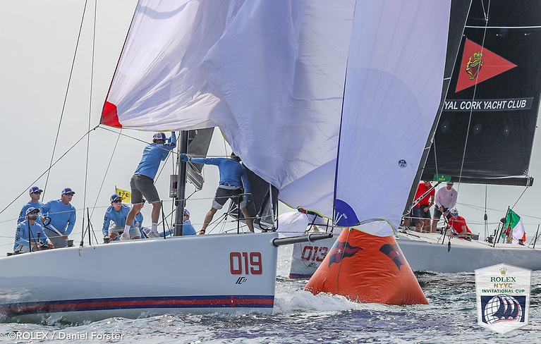 Anthony O'Leary's Royal Cork Yacht Club team (bow number 13) lie fourth overall