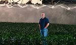 Randy Dowdy in his double row cornfields just outside the rural town of Pavo, Ga  near Valdosta in southwest Georgia May 9, 2013.<br /> CREDIT: Mark Wallheiser for The Progressive Farmer Mag<br /> ©2013 Mark Wallheiser