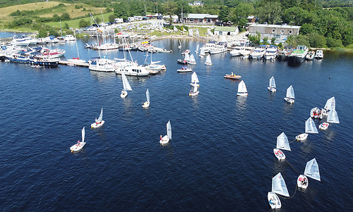 The Optimist Connaught Championships are underway at Lough Ree Yacht Club