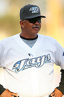 April 10th 2009:  Manager Omar Malave of the Dunedin Blue Jays, Florida State League Class-A affiliate of the Toronto Blue Jays, during a game at Dunedin Stadium in Dunedin, FL.  Photo by:  Mike Janes/Four Seam Images